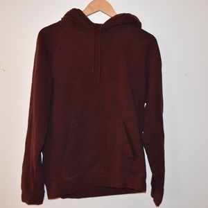 Crimson/Maroon Regular Fit Hoodie